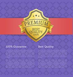 premium best quality 100 guarantee golden label vector image