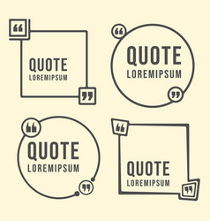 quote speech bubble template quotes text form and vector image