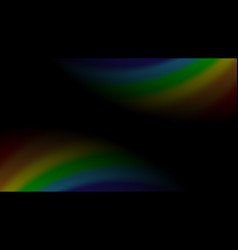 Rainbow gradient on black background color vector