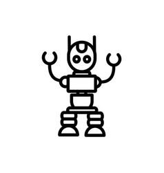 robot avatar technology artificial machine linear vector image