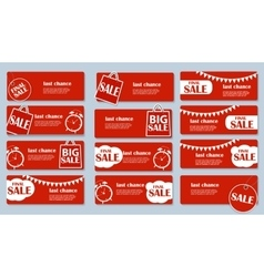 Sale Banner Set with Place for Your Text vector image