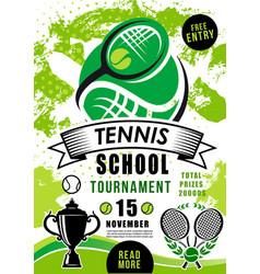 School tournament tennis sport competition vector