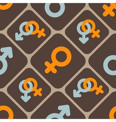 seamless abstract background with gender symbols vector image
