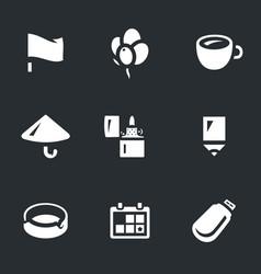 Set souvenir icons vector