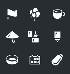 set souvenir icons vector image