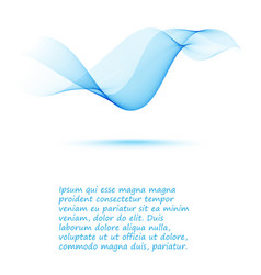 smooth blue abstract wave background flyer design vector image