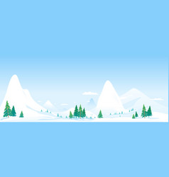 snowcapped mountains panorama landscape background vector image