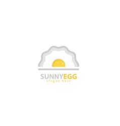 sunny egg logo design vector image
