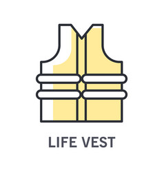 swimming life vest or jacket isolated icon vector image