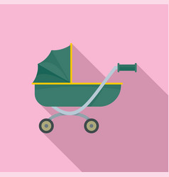 toy baby pram icon flat style vector image