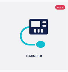Two color tonometer icon from health and medical vector