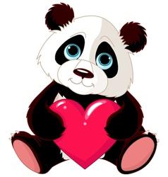 Valentine panda vector