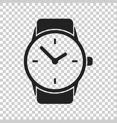Watch icon clock flat vector