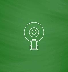 web camera computer symbol vector image