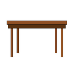 wood table empty vector image