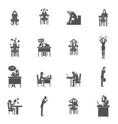 Frustration Icons Set vector image vector image