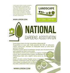 garden landscape company poster vector image