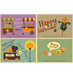 Halloween sweet treats vector