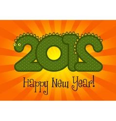 Happy New Year 2012 vector image vector image