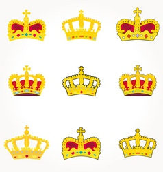 royal crowns vector image vector image