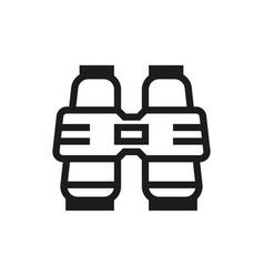 binoculars icon on white background vector image