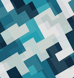 blue tech square seamless pattern vector image vector image