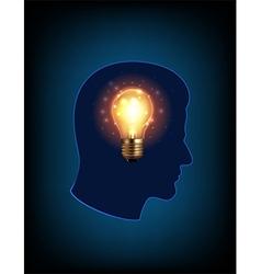 Head light bulb vector image