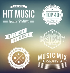 Music Labels vector image