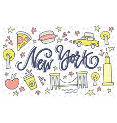 new york symbols vector image
