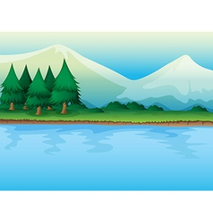 river and trees vector image