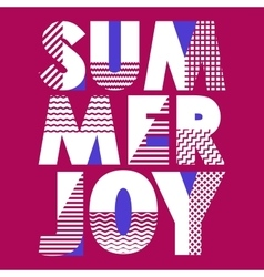 Summer Joy T-shirt Typography vector image