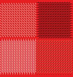 a set of vintage patterns for tablecloths vector image