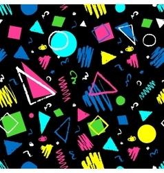 Dark seamless geometric pattern vector image