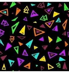 Seamless pattern with colorful triangles vector image vector image