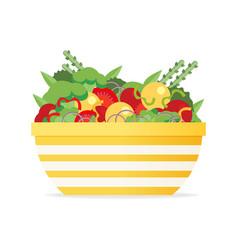 a flat salad vector image