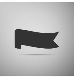 Banner ribbon flat icon on grey background vector image vector image
