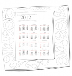 calendar for 2012 vector image vector image
