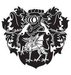 heraldic silhouette No26 vector image