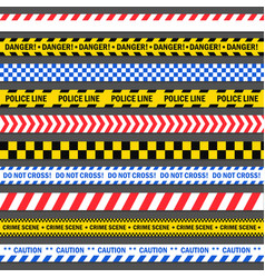 police and construction tape vector image
