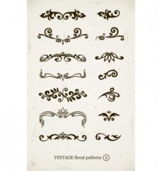 set of vintage decorative vector image vector image