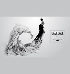 abstract silhouette a baseball player pitcher vector image
