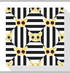 Animal seamless pattern collection with cat 7 vector image