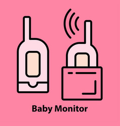 baby monitor on pink vector image