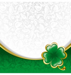 background to St Patrick's day vector image