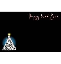 Background with Christmas tree of soccer balls vector image