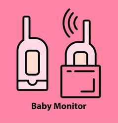 Bamonitor on pink vector