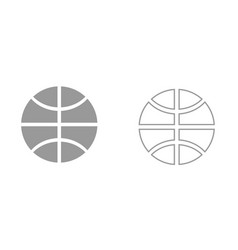 basketball ball it is icon vector image