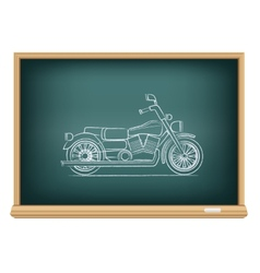 Board motorcycle vector
