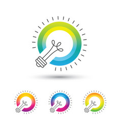 Bright colorful light bulb logo set vector