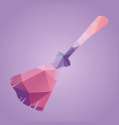 broom of triangles vector image
